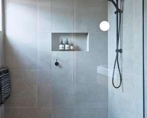 Mampara fija para baño de Vidrio Templado de 8mm.