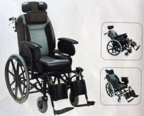 Silla de ruedas con relajación y sentadera de vehículo