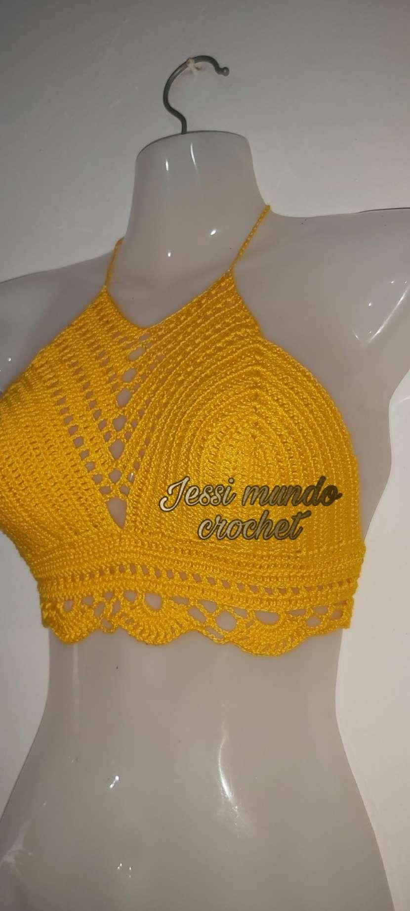 Crop top y blusita de crochet - 10