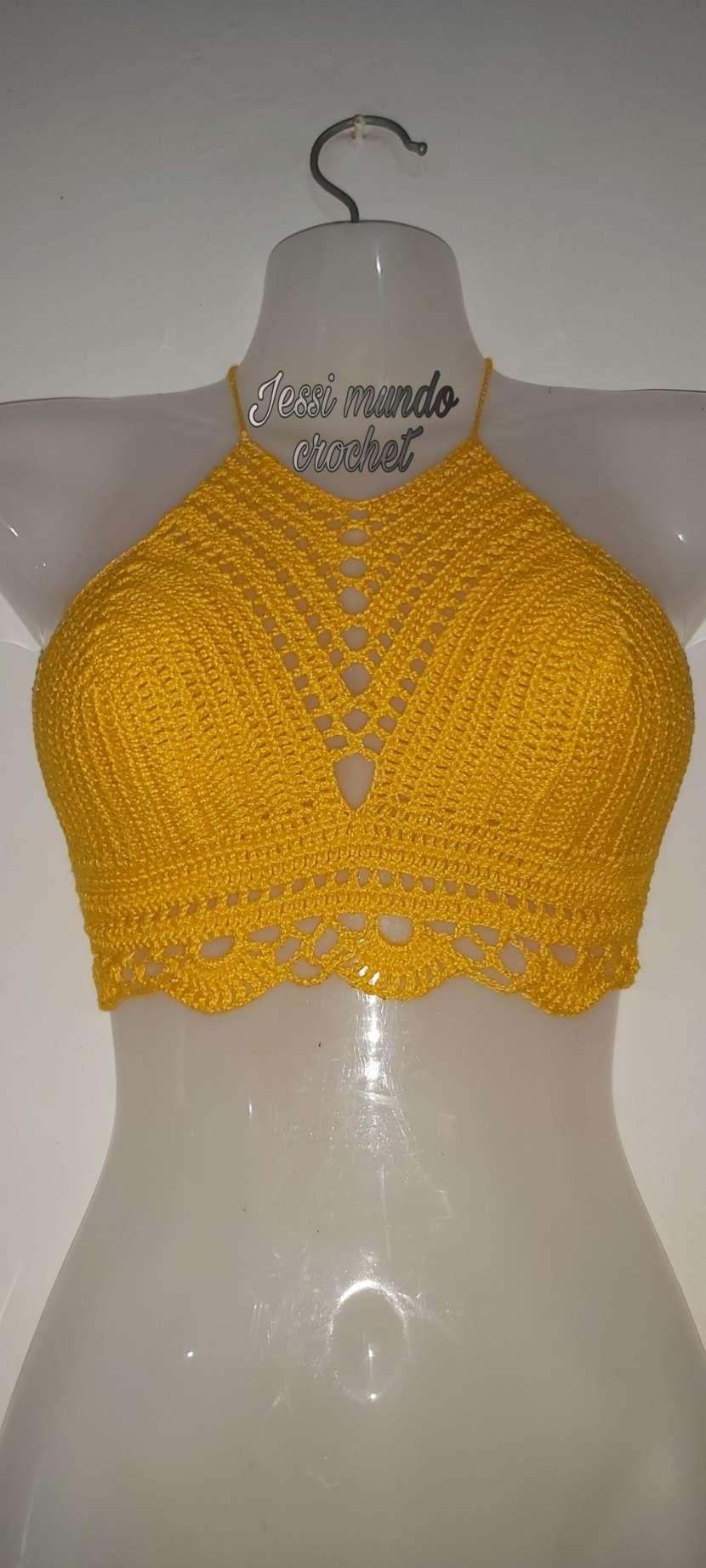 Crop top y blusita de crochet - 9