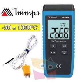 Termómetro digital Minipa MT-450A Escala -50 a +1300°c