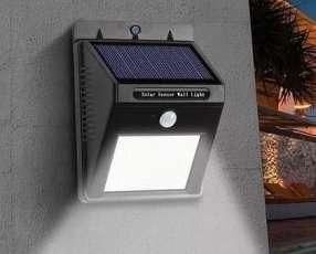Luz led para exteriores recargable luz solar sensor de movimiento