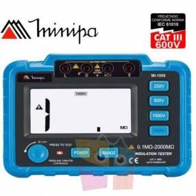 Megómetro Digital - Minipa - MI-1000 - 2000MΩ / 1000V