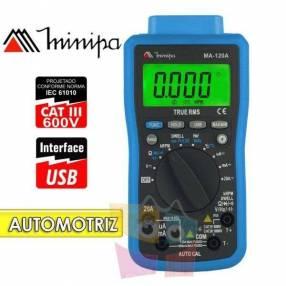 Multímetro digital automotriz Minipa - MA-120A - RPM