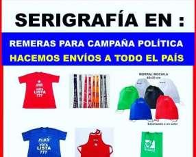 Serigrafía para campaña política