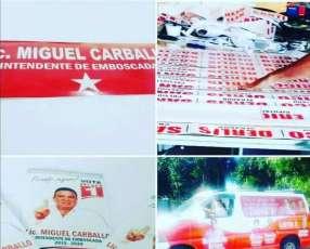 Calcomanías personalizadas o empresariales o para promociones o campaña política