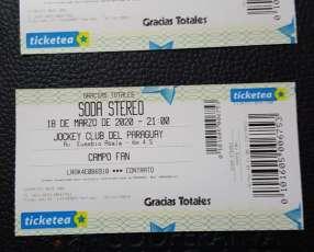 Entradas GRACIAS TOTALES Soda Stereo campo fan