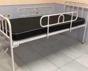Cama hospitalaria fija de dos funciones con ruedas