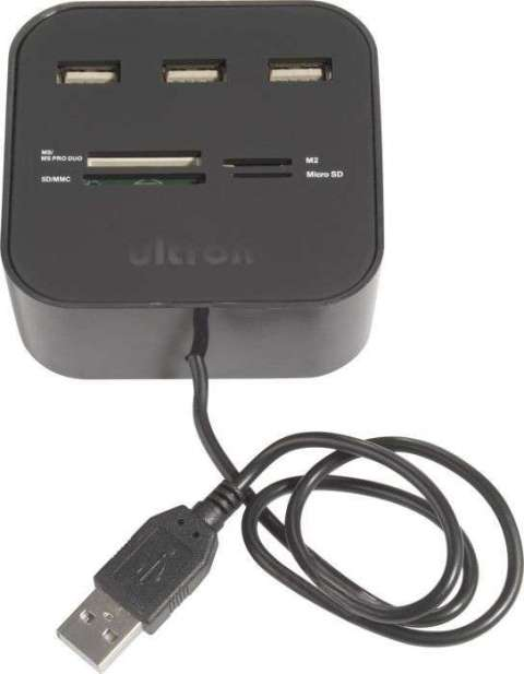 Hub USB con lector de memorias