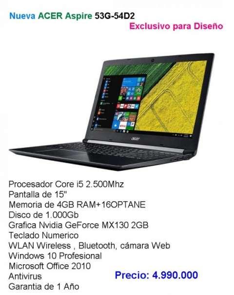 Notebook Acer Aspire Esclusivo para Diseño