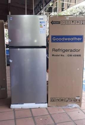 Heladera Goodweather frío seco inoxidable de 490 litros