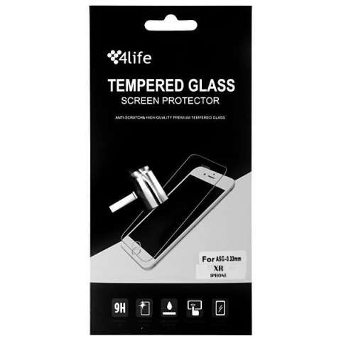 Lamina para iPhone XR 4Life Tenpered Glass