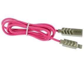 Cable USB|Lightning MOX MO-11 1 Metro - Rosado