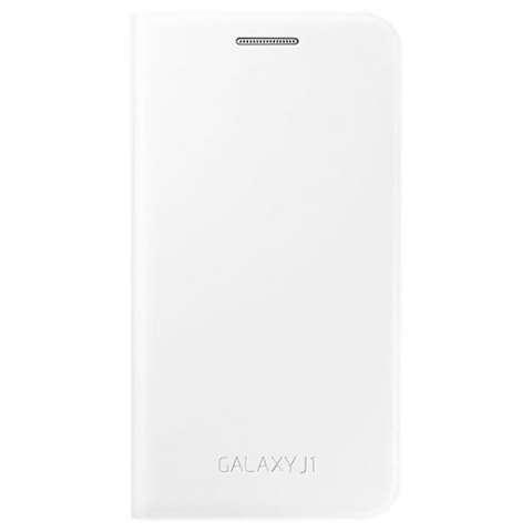 Funda para Galaxy J1 Samsung Flip Cover EF-FJ100BWEGWW - Blanca