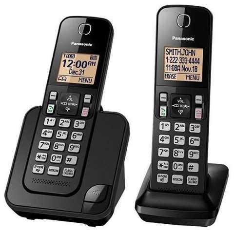 Teléfono Wireless Panasonic KX-TGC352 con Bloqueo de llamadas - Negro