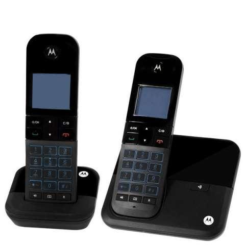 Teléfono Wireless Motorola M6000-2 DECT 6.0 con Identificador de Chamadas Bivolt - Negro