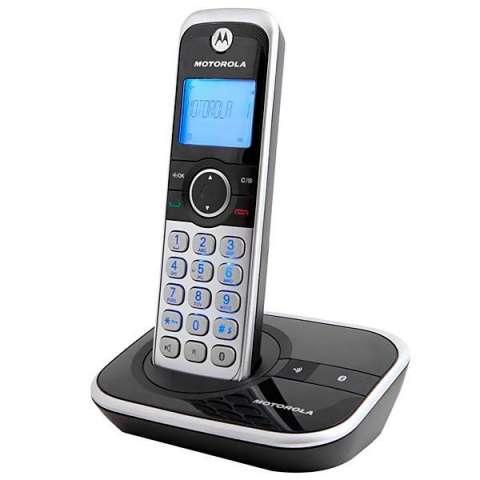 Teléfono Wireless Motorola GATE4800BT con Bluetooth y Identificador - Negro|Plateado