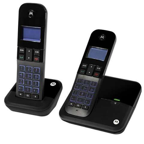 Teléfono Wireless Motorola M4000-2 DECT 6.0 con Identificador de Chamadas Bivolt - Negro