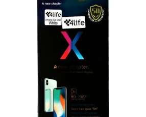 Lamina para iPhone Xs Max 4life 5D - Transparente Blanca