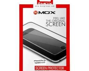Lamina para iPhone 8 Plus MOX Tenpered Glass 5D - Transparente Negra