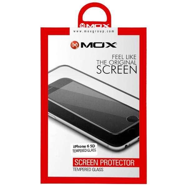 Película para iPhone 6 MOX Tenpered Glass 5D - Transparente Negra - 0