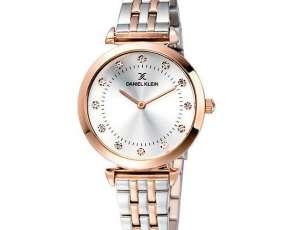 Reloj Femenino Daniel Klein DK11992-2 - Plateado|Rosado Gold