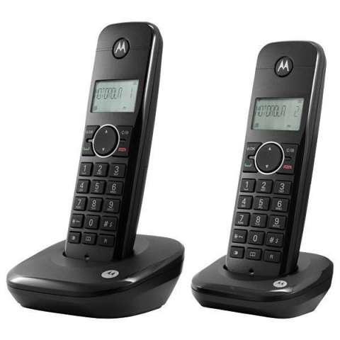 Teléfono Wireless Motorola Moto 500ID-2 con Identificador de Chamada - Negro