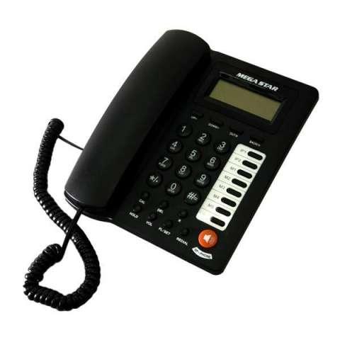 Teléfono Fixo Megastar FT-750 con Identificador de Chamadas - Negro