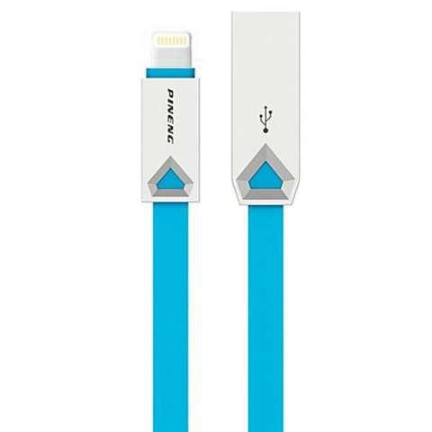 Cable USB|Lightning PINENG PN-308 1 Metro - Azul