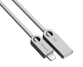 Cable USB 2 en 1 PINENG PN-310 1 Metro Micro USB + Lightning - Plateado