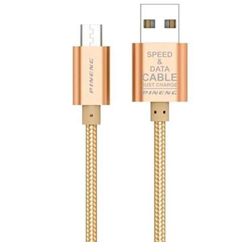 Cable USB|Micro USB PINENG PN-306 1 Metro - Dorado