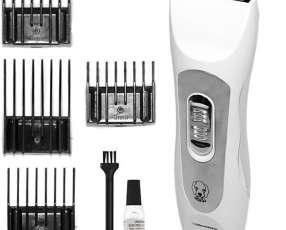 Corta pelo Roadstar RS-601PET Recargable + 4 peines de corte 220V - Blanco