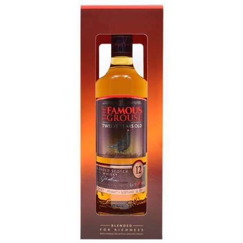 Whisky The Famous Grouse 12 Anos 750 ml