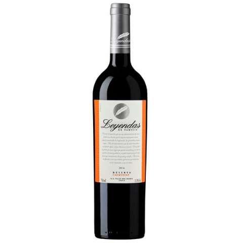 Vino Leyendas de Familia Reserva Carmenere 2016 750 ml