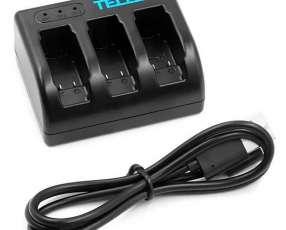 Cargador de Bateria Telesin GP-BCG-503 para 3 Baterias - Negro