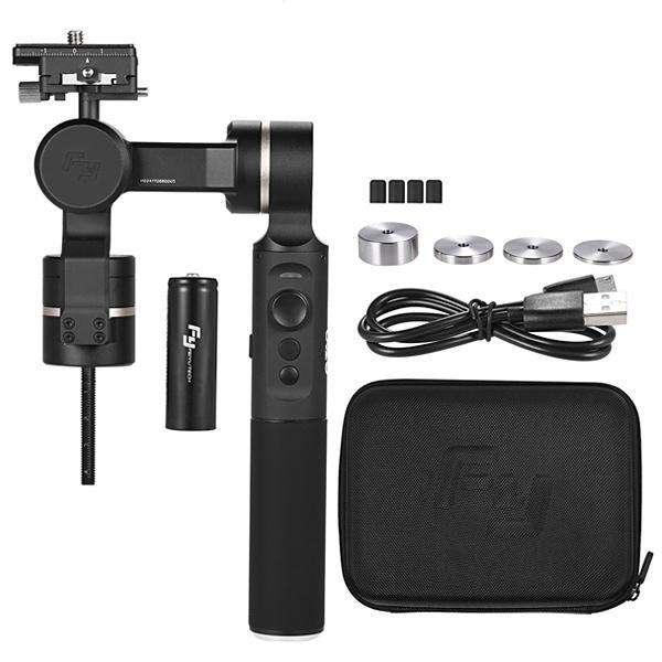 Cardán Feieutech g360 de 3 ejes con bluetooth para cámara de acción - negro - 0