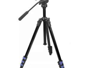 Trípode Weifeng WF-5317H 360º 1.695 mm para Cámaras Fotográficas y Filmadoras - Negro Azul