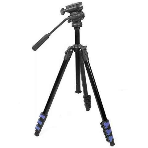 Trípode Weifeng WF-5317H 360º 1.695 mm para Cámaras Fotográficas y Filmadoras - Negro|Azul