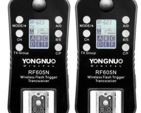 Control para Flash Yongnuo RF605N de 2.4GHz para Cámaras Nikon - Negro