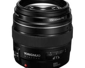 Lente para Cámaras Canon Yongnuo YN-100MM F2 de 58mm con Apertura de Diafragma F|2