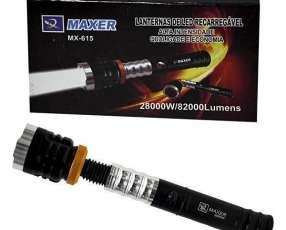 Linterna LED Maxer MX-615 de 28.000W con 82.000 Lumens - Negra