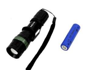 Linterna LED MOX MO-L8083 3 watts Bateria 3.000 mAh - Negra