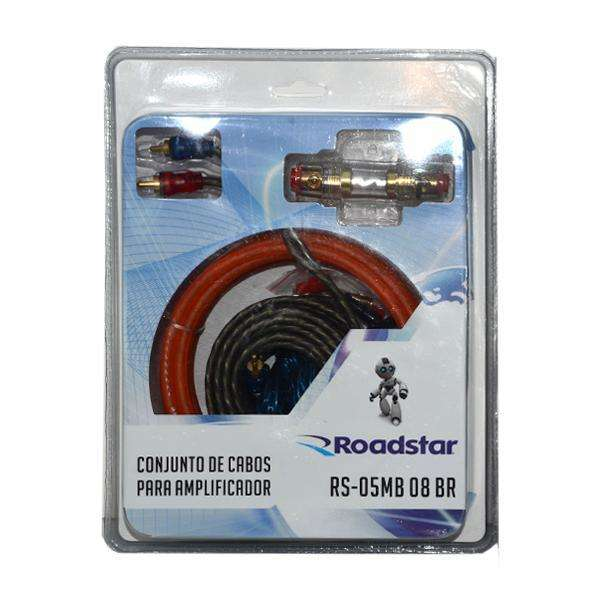 Cable para Amplificador Roadstar RS-05MB 08 BR de 5 Metros - Rojo - 0