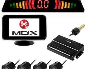 Sensor de Estacionamento MOX MO-CS202 de 4 Partes para hasta 2.5 m + Tela - Negro