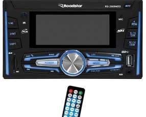 Auto radio Roadstar RS-2909MDD con Bluetooth USB FM - Negro
