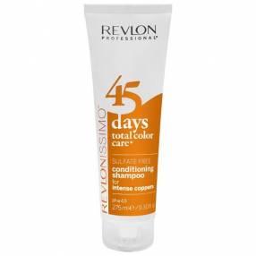 Shampoo Revlon Revlonissimo 45 Daes Intense Coppers 2 en 1 275 ml