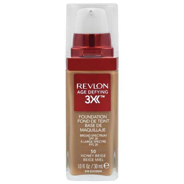 Base Revlon Age Defeing 3X Foundation FPS 20 30 ml - 50 Honee Bege - 0