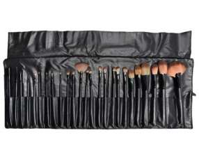 Kit de Brochas para Maquillaje Miss Rose Make Up Brush 25 Partes + Estojo - Negro