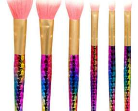Kit de Brochas para Maquillaje Gati Unicorn Brushes GUB-061 de 6 Partes - Multicolor