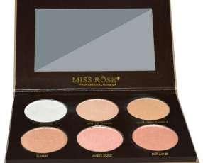 Paleta de Iluminador Miss Rose Glow Kit 7003-037N1 - 6 Cores
